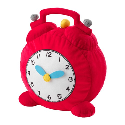 IKEA HEMMAHOS soft toy Soft and has moveable hands – perfect if you want to learn to tell the time.