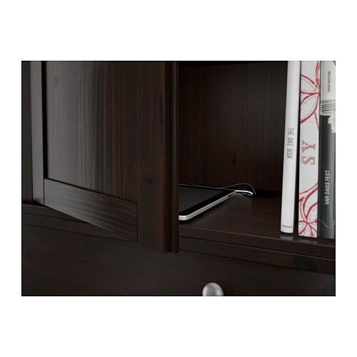 Hemnes Add On Unit For Bureau Black Brown 89x90 Cm Ikea