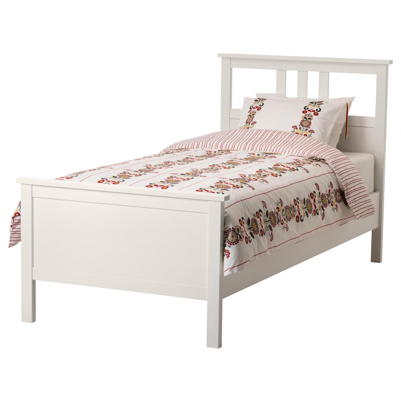 HEMNES Bed frame White stain leirsund Standard Single IKEA
