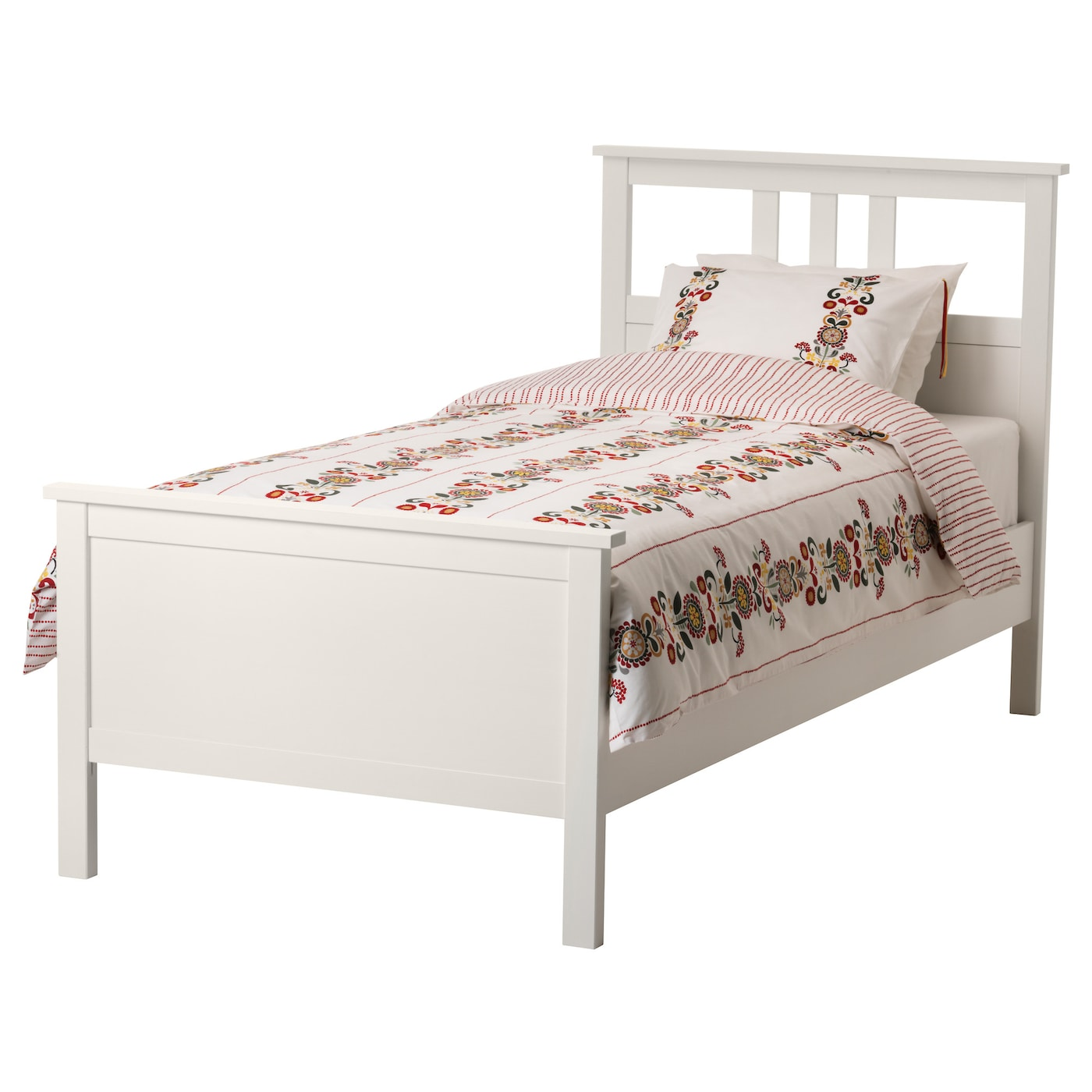 IKEA HEMNES bed frame Made of solid wood  which is a hardwearing and warm  natural. Single Beds   Single Bed Frames   IKEA