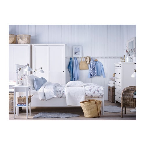 IKEA HEMNES bed frame Made of solid wood  which is a hardwearing and warm  natural. HEMNES Bed frame White stain lur y Standard King   IKEA