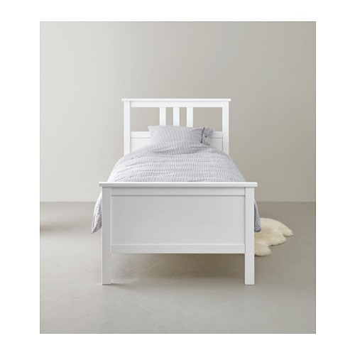 Ikea Gardinen Mit Kräuselband ~ IKEA HEMNES bed frame Made of solid wood, which is a hardwearing and