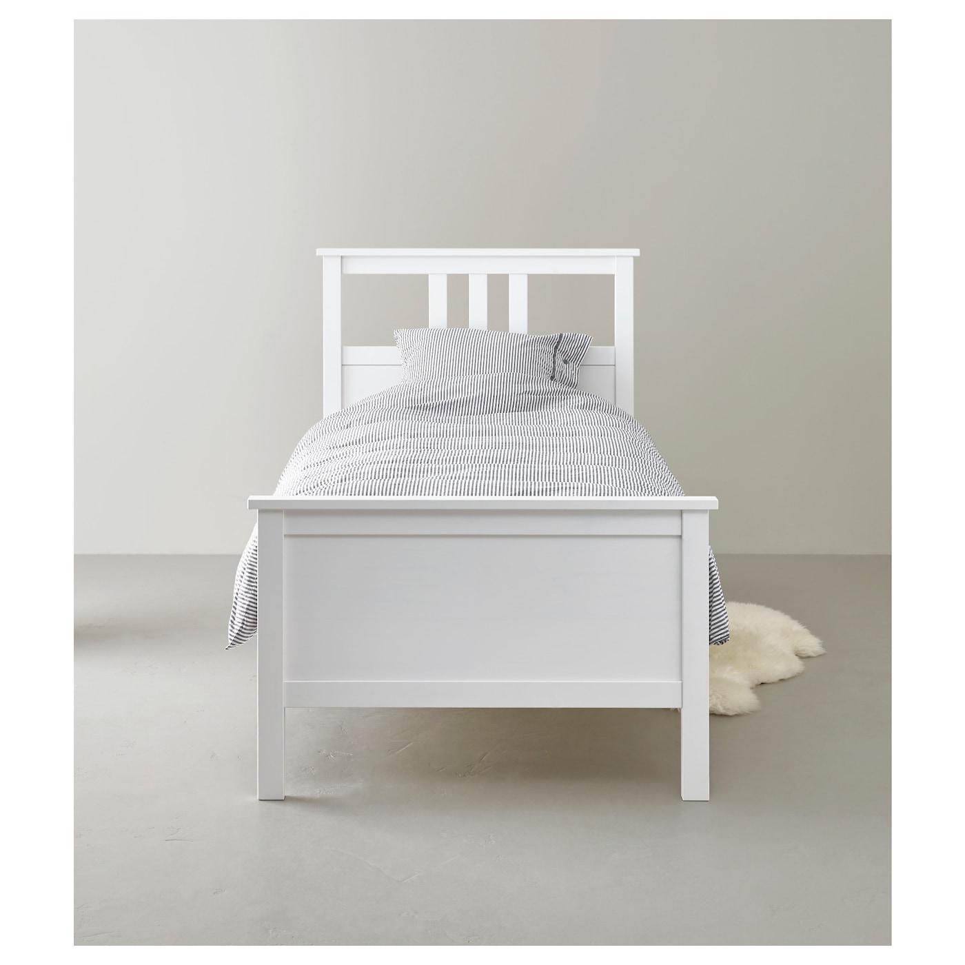hemnes bed frame white stain lur y standard single ikea. Black Bedroom Furniture Sets. Home Design Ideas