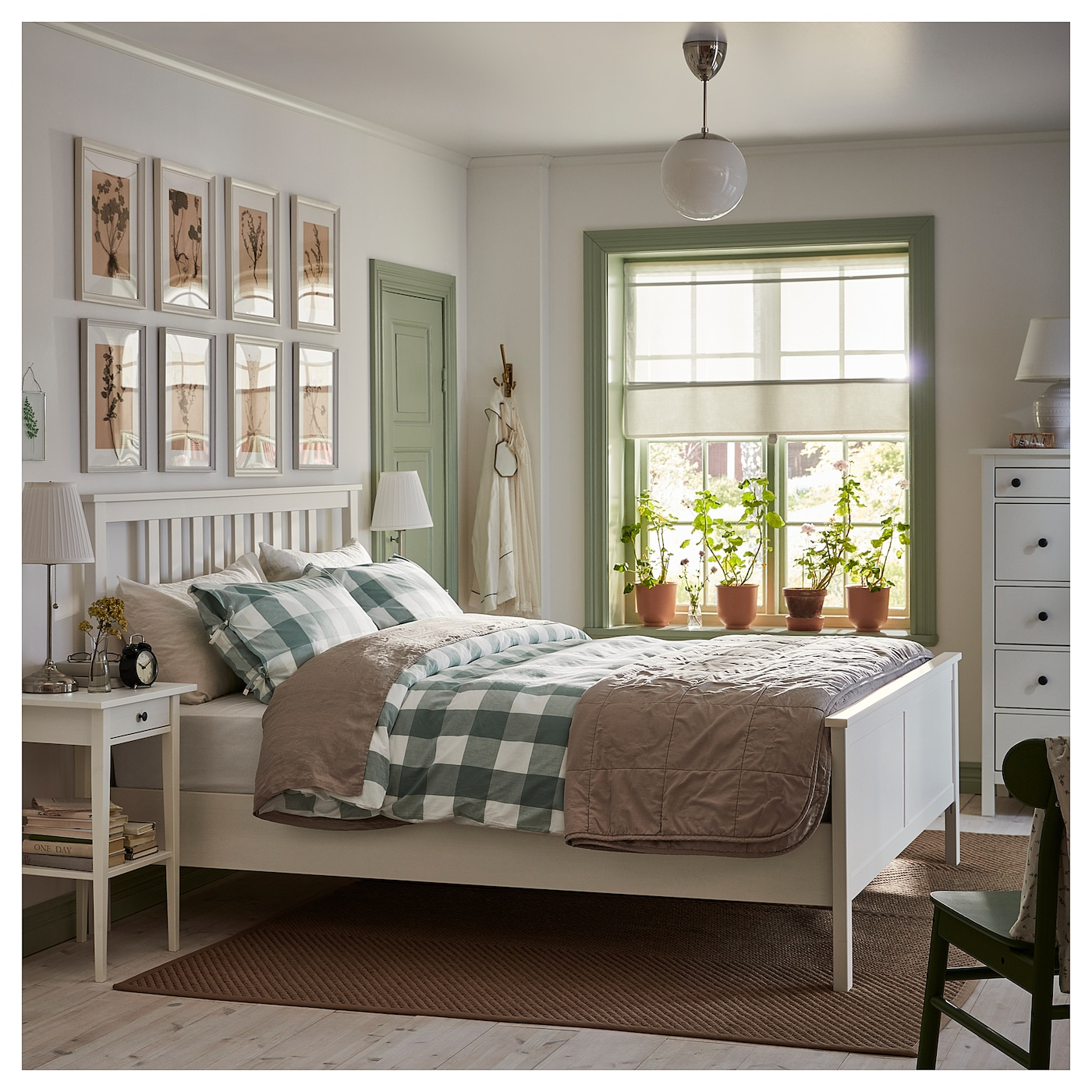 Hemnes White Stain Luroy Bed Frame Standard Double Ikea