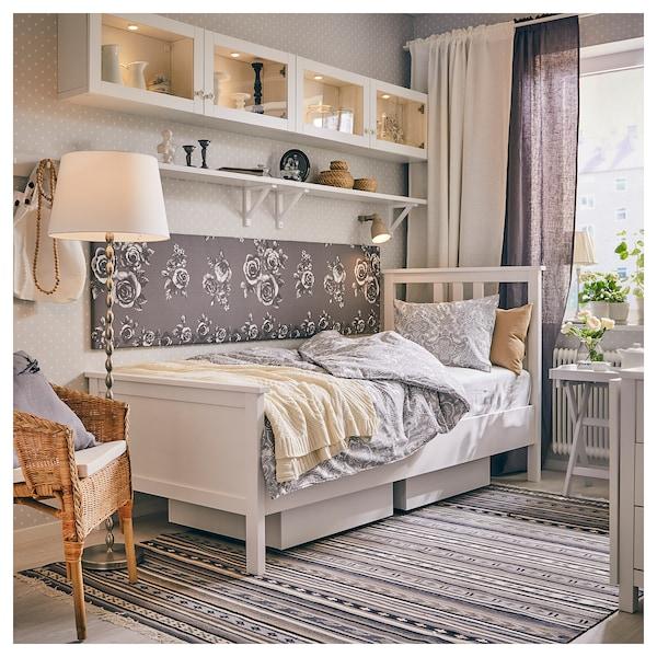 HEMNES Bed frame, white stain, Standard Single