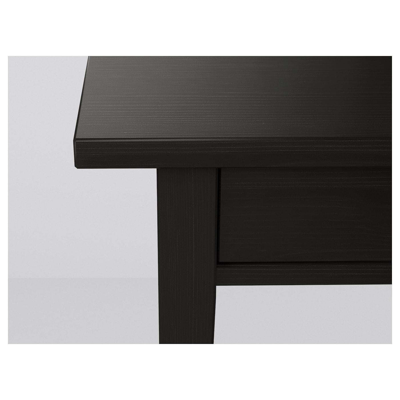 hemnes bedside table black brown 46 x 35 cm ikea. Black Bedroom Furniture Sets. Home Design Ideas