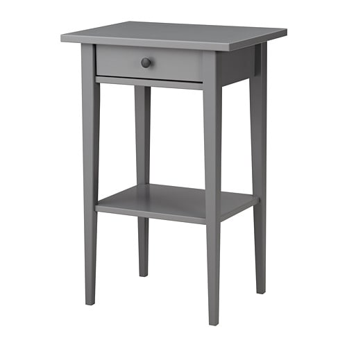 Hemnes bedside table grey 46 x 35 cm ikea for Ikea comodino hemnes