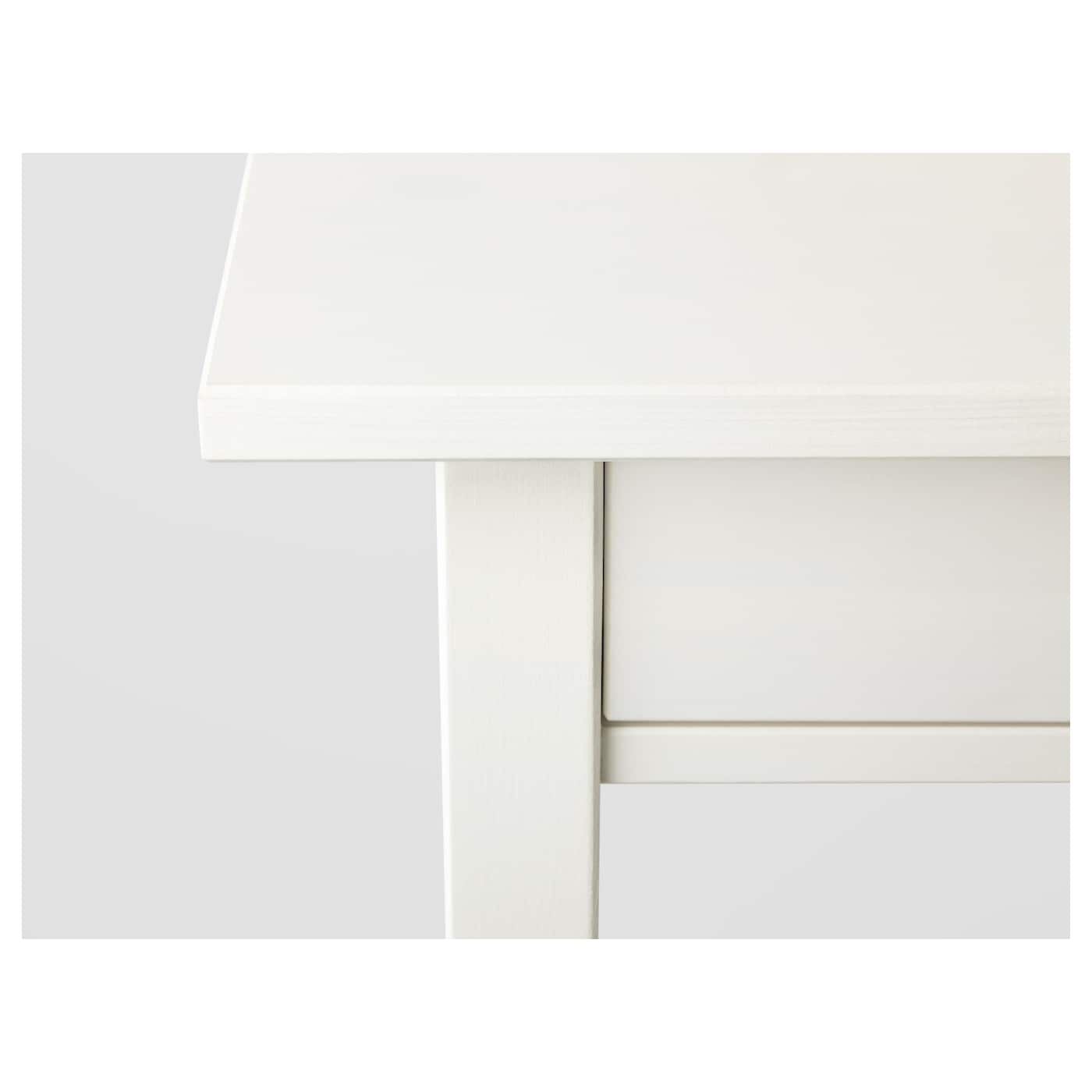 IKEA HEMNES bedside table Smooth running drawer with pull-out stop.
