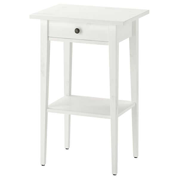 Hemnes White Stain Bedside Table 46x35 Cm Ikea