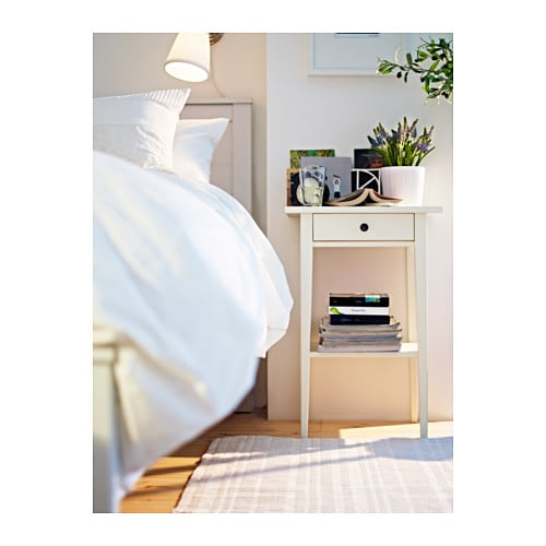 Ikea Faktum Wall Cabinet Installation ~ Bedside table HEMNES White
