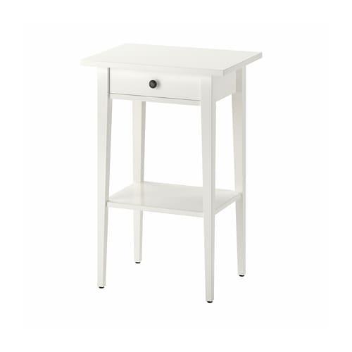Hemnes Bedside Table White 46 X 35 Cm Ikea