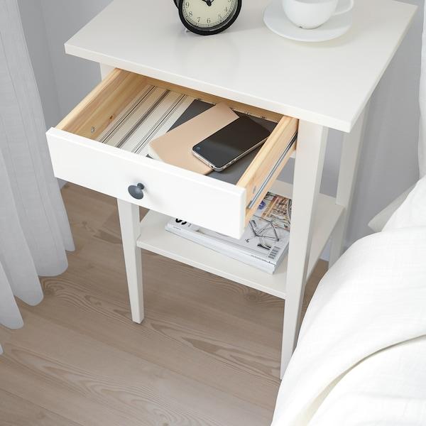 HEMNES bedside table white 46 cm 35 cm 70 cm