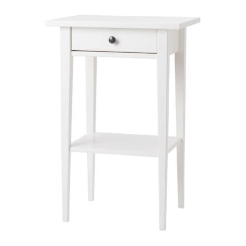 HEMNES Bedside table IKEA Smooth running drawer with pull-out stop.