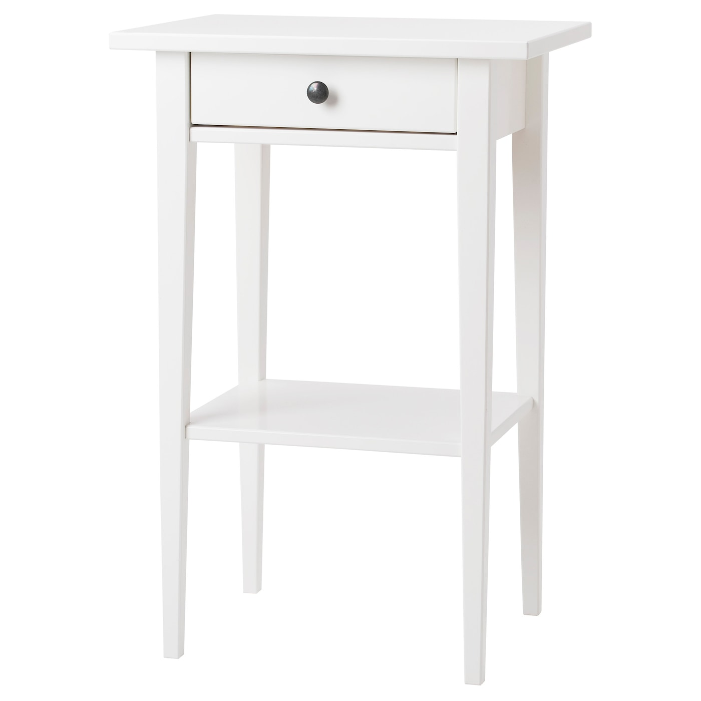Ikea Hemnes Bedside Table Smooth Running Drawer With Pull Out Stop
