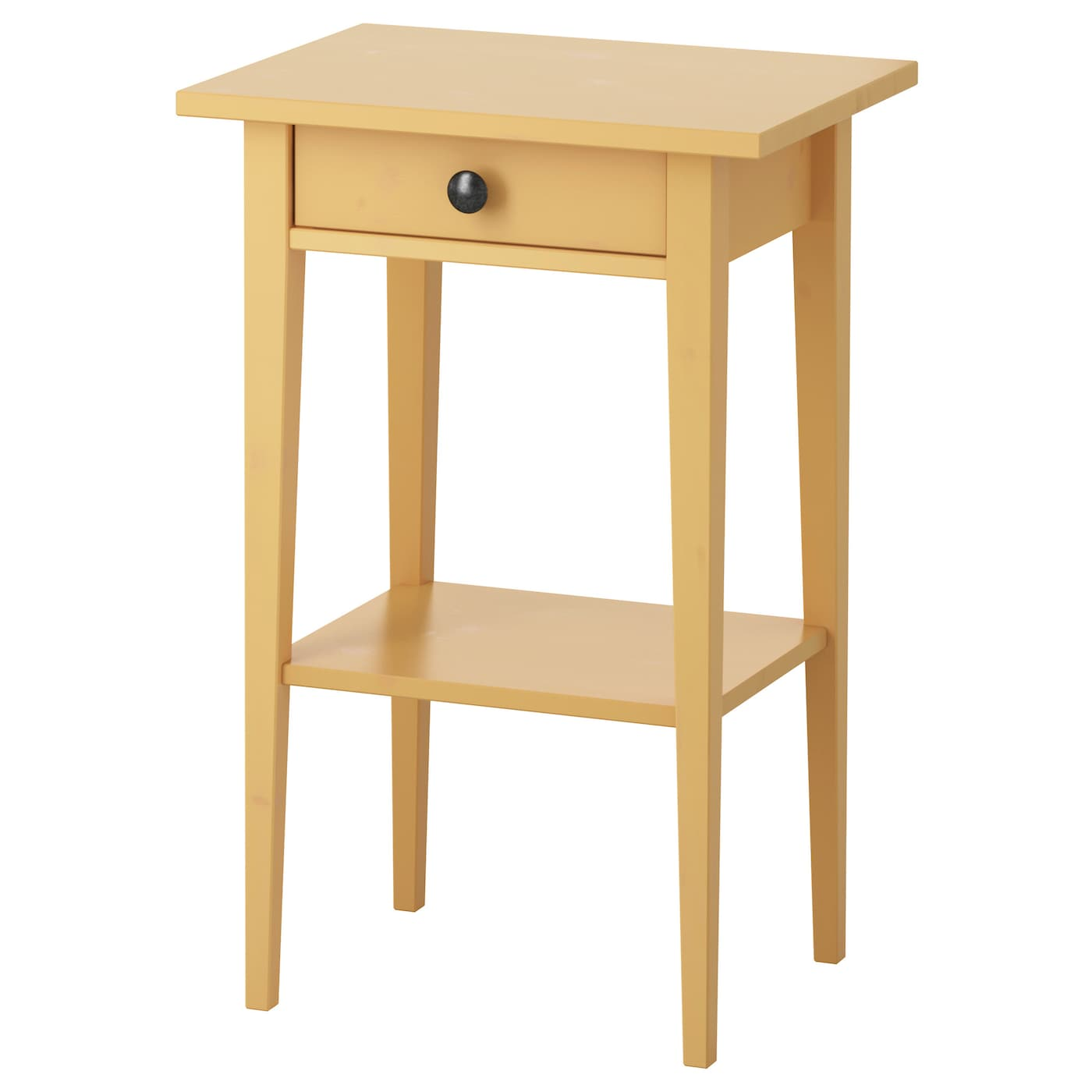 Hemnes bedside table yellow 46x35 cm ikea - Table de chevet jaune ...