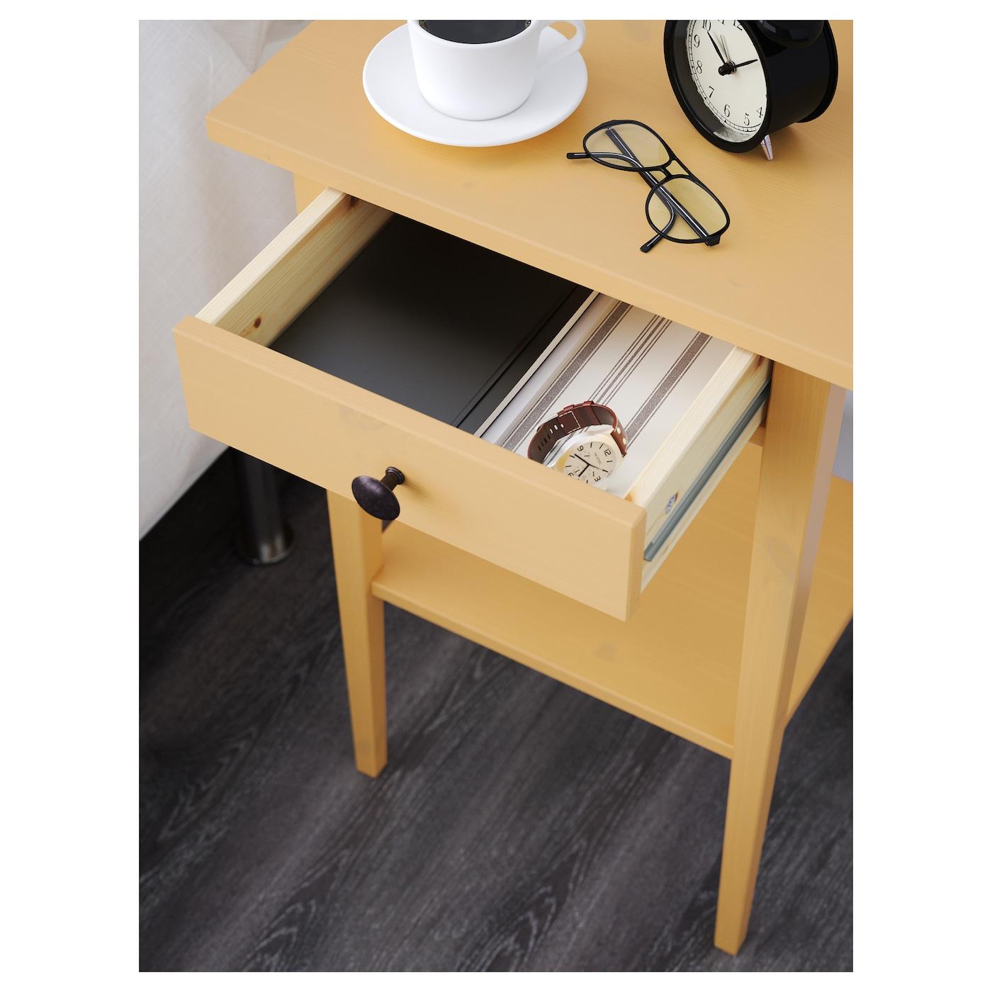 Bedside Desk hemnes bedside table yellow 46x35 cm - ikea