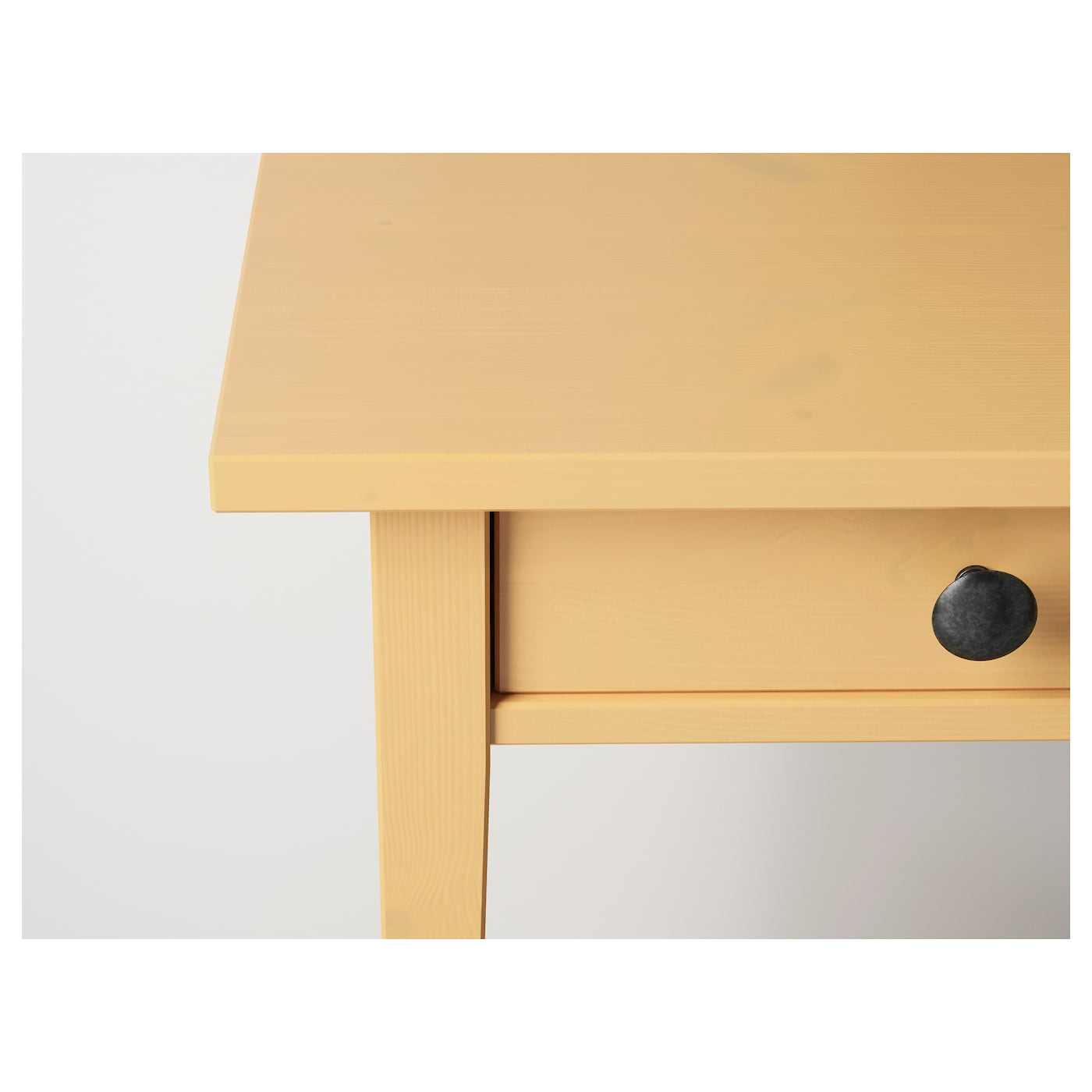 IKEA HEMNES bedside table Made of solid wood, which is a hardwearing and warm natural material.