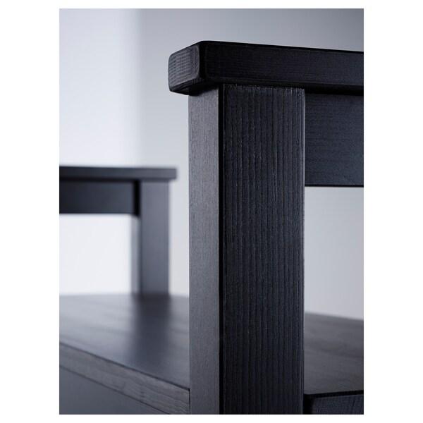 HEMNES Bench with shoe storage, black-brown, 85x32 cm