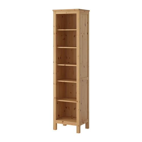 IKEA HEMNES Bookcase Solid Wood Has A Natural Feel. 1 Fixed Shelf For High  Stability
