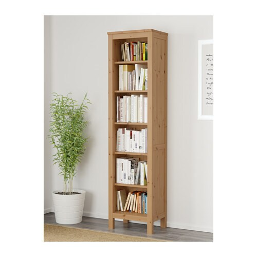 1 Fixed Shelf For High Ility Ikea Hemnes Bookcase Solid Wood Has A Natural Feel