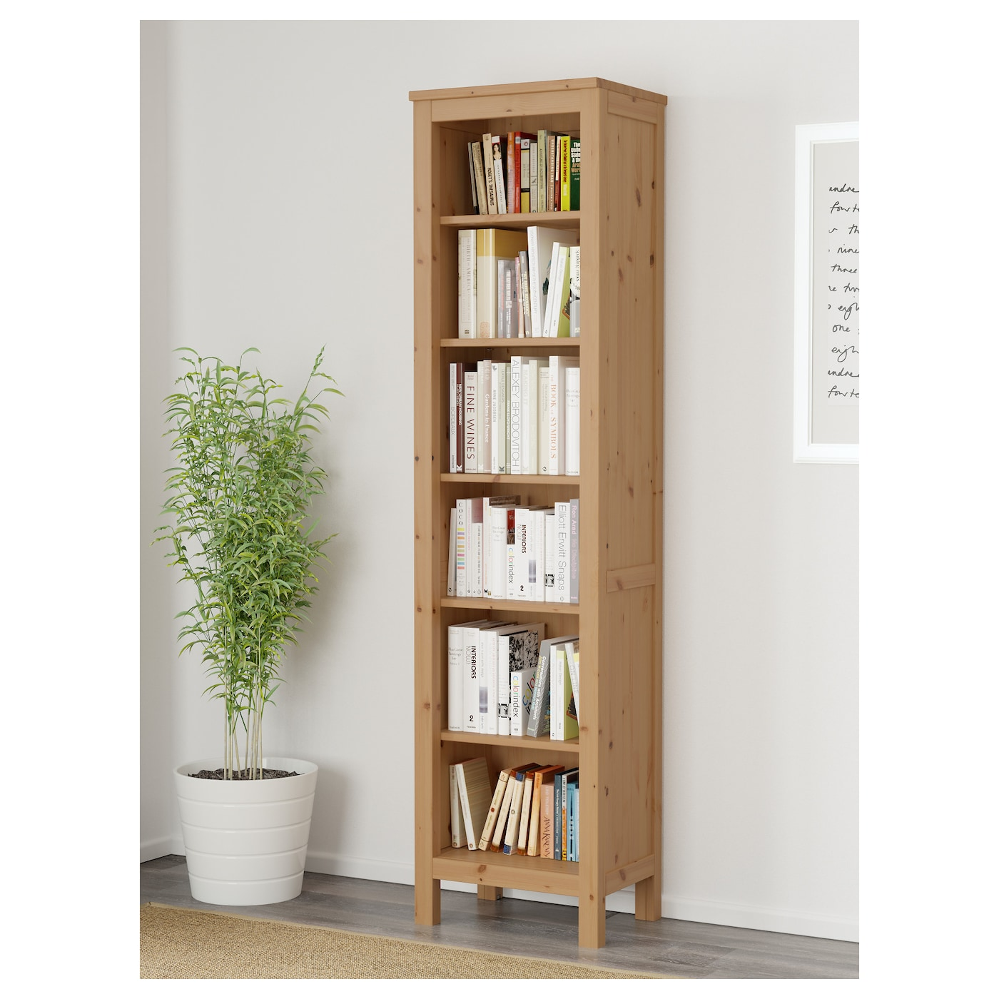 hemnes bookcase light brown 49x197 cm ikea