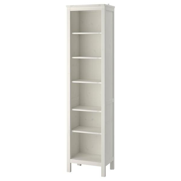 HEMNES Bookcase, white stain, 49x197 cm