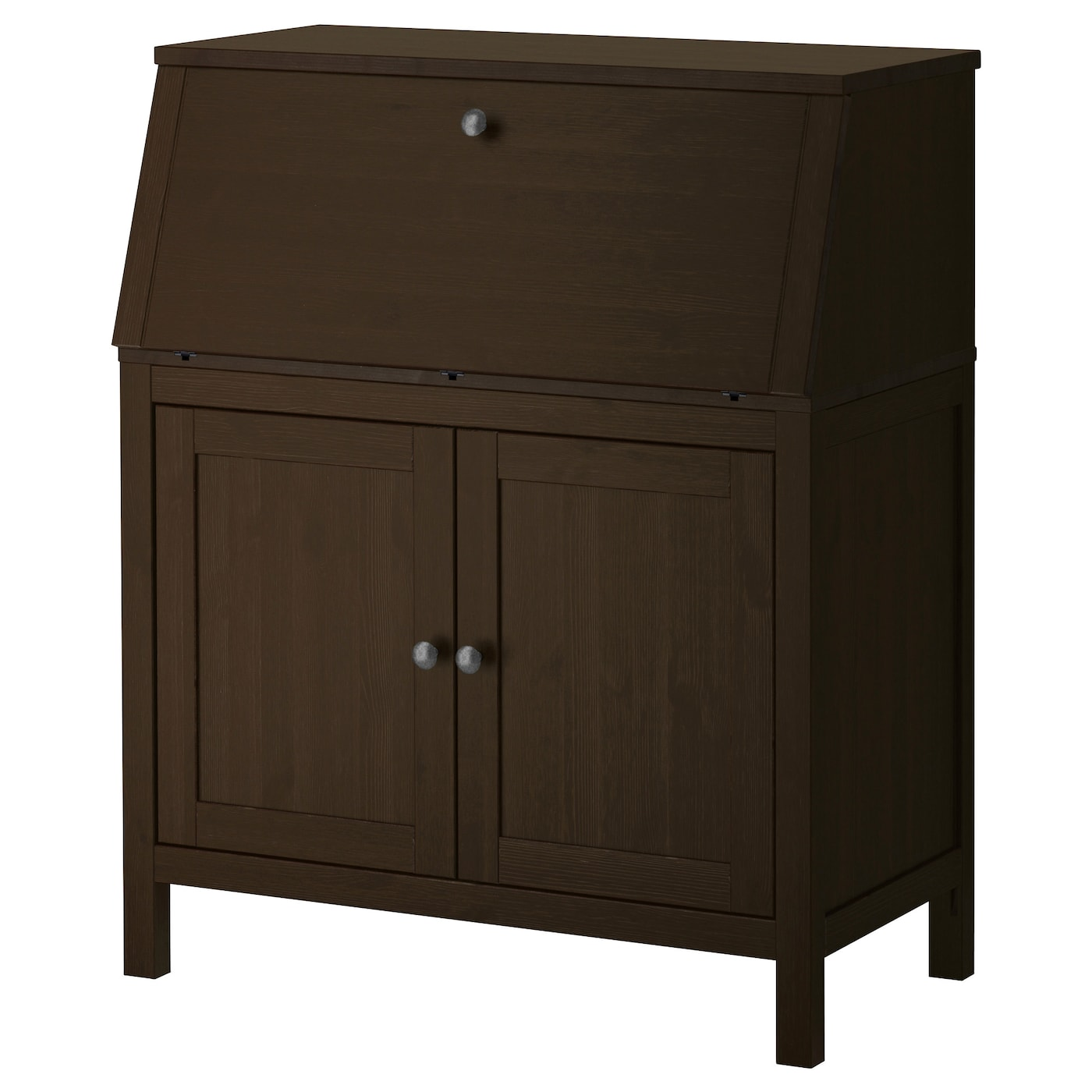 hemnes bureau black brown 89x108 cm ikea. Black Bedroom Furniture Sets. Home Design Ideas