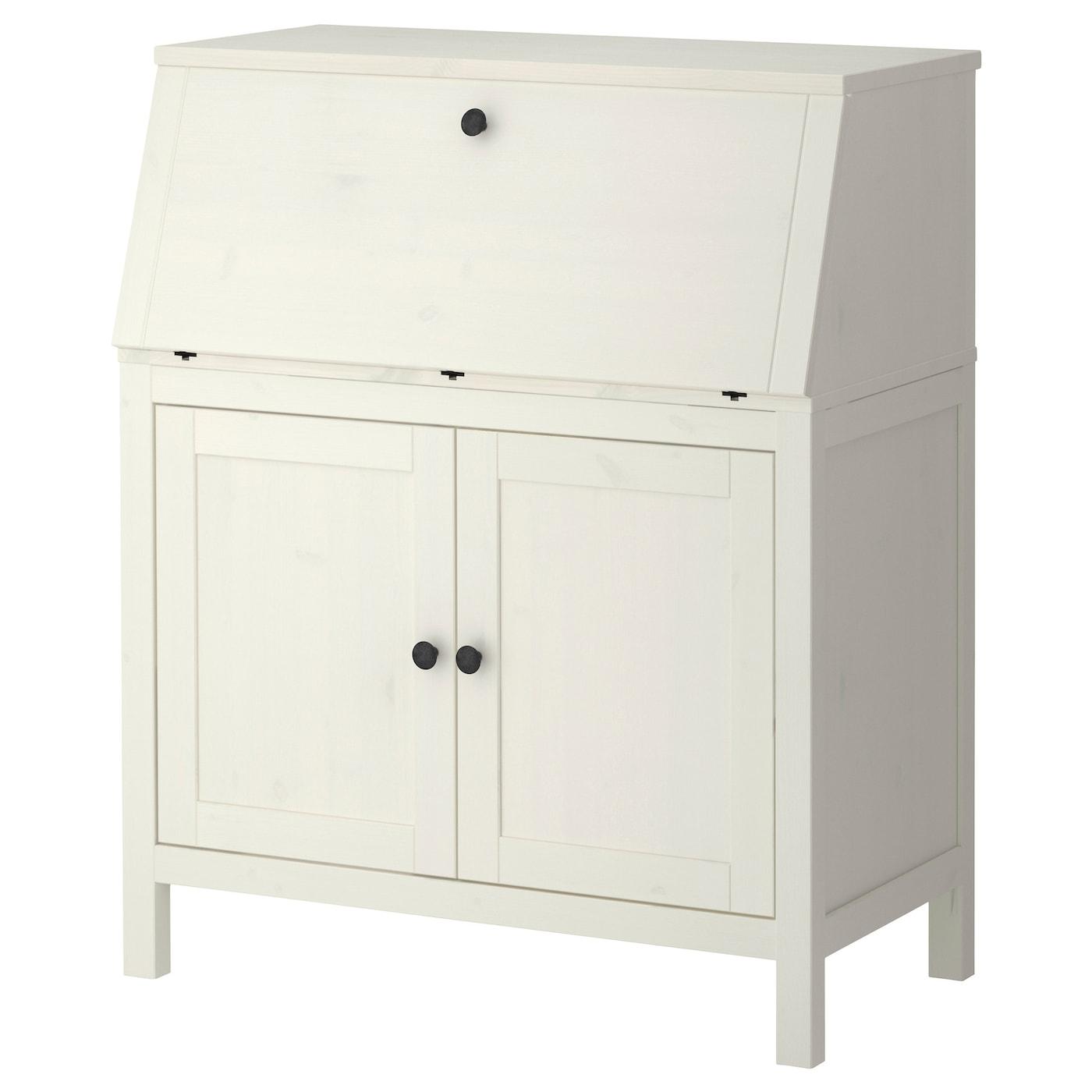 Hemnes bureau white stain 89 x 108 cm ikea for Mobile computer ikea