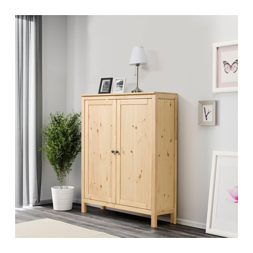 hemnes cabinet with 2 doors light brown 99x130 cm ikea. Black Bedroom Furniture Sets. Home Design Ideas