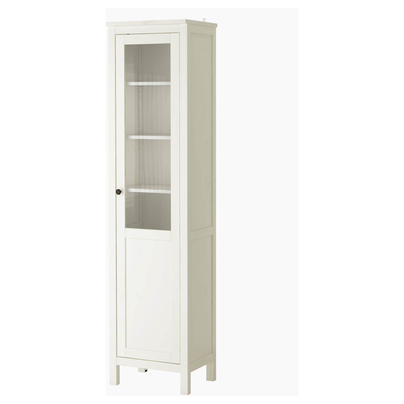 hemnes cabinet with panel glass door white stain 49 x 197 cm ikea. Black Bedroom Furniture Sets. Home Design Ideas