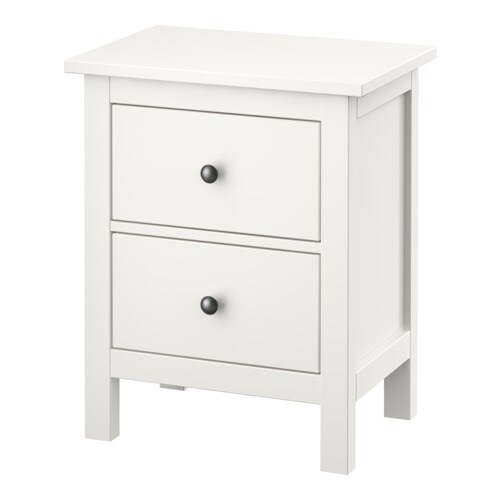 HEMNES Chest of 2 drawers IKEA Extra roomy drawers; more space for storage.  Smooth running drawers with pull-out stop.