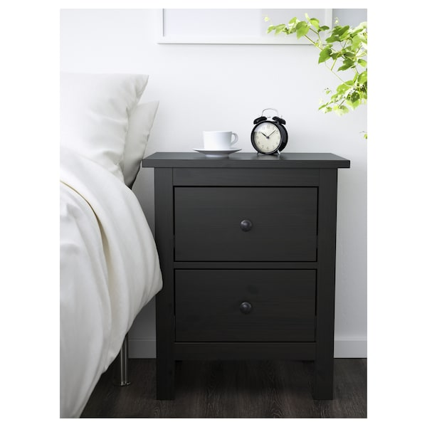 HEMNES chest of 2 drawers black-brown 54 cm 38 cm 66 cm 31 cm