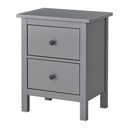 Hemnes Chest Of 2 Drawers Grey 54x66 Cm Ikea