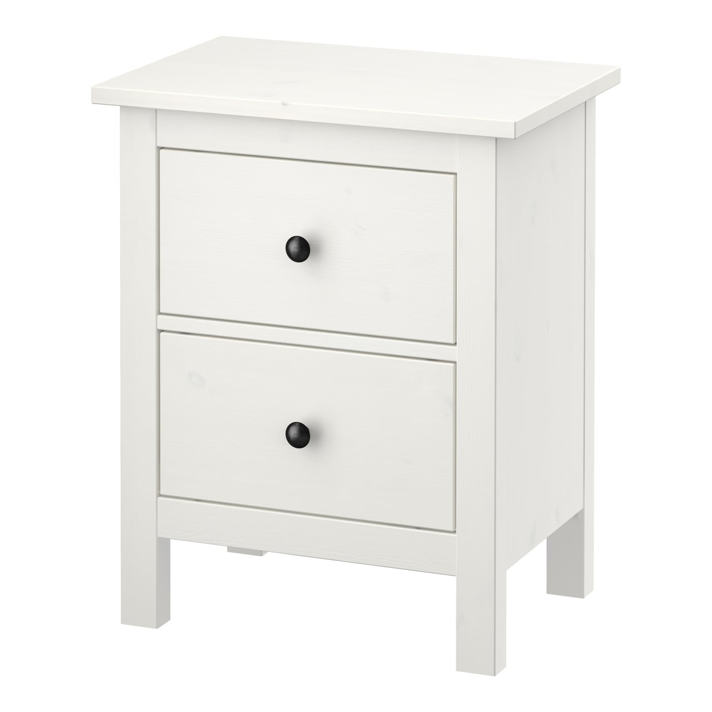 hemnes chest of 2 drawers white stain 54 x 66 cm ikea. Black Bedroom Furniture Sets. Home Design Ideas