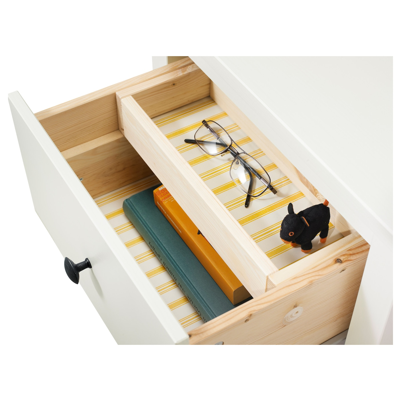 Hemnes chest of 2 drawers white stain 54x66 cm ikea for Ikea schubladen organizer