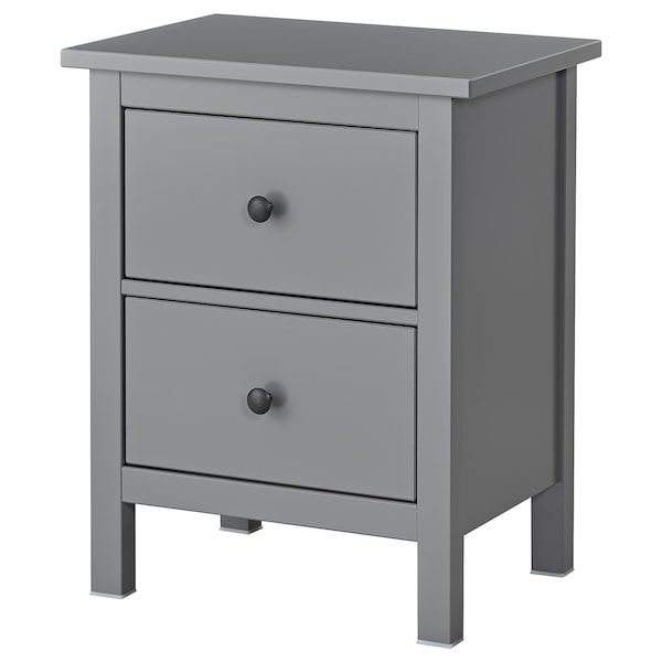 Hemnes Grey Chest Of 2 Drawers 54x66