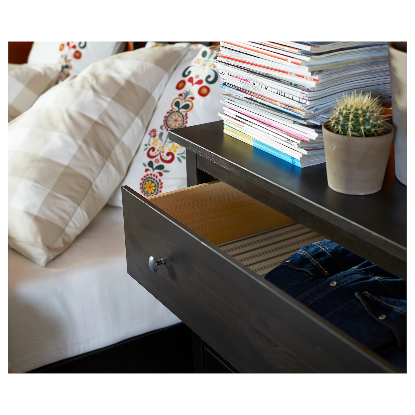 IKEA HEMNES chest of 3 drawers Made of solid wood, which is a hardwearing and warm natural material.