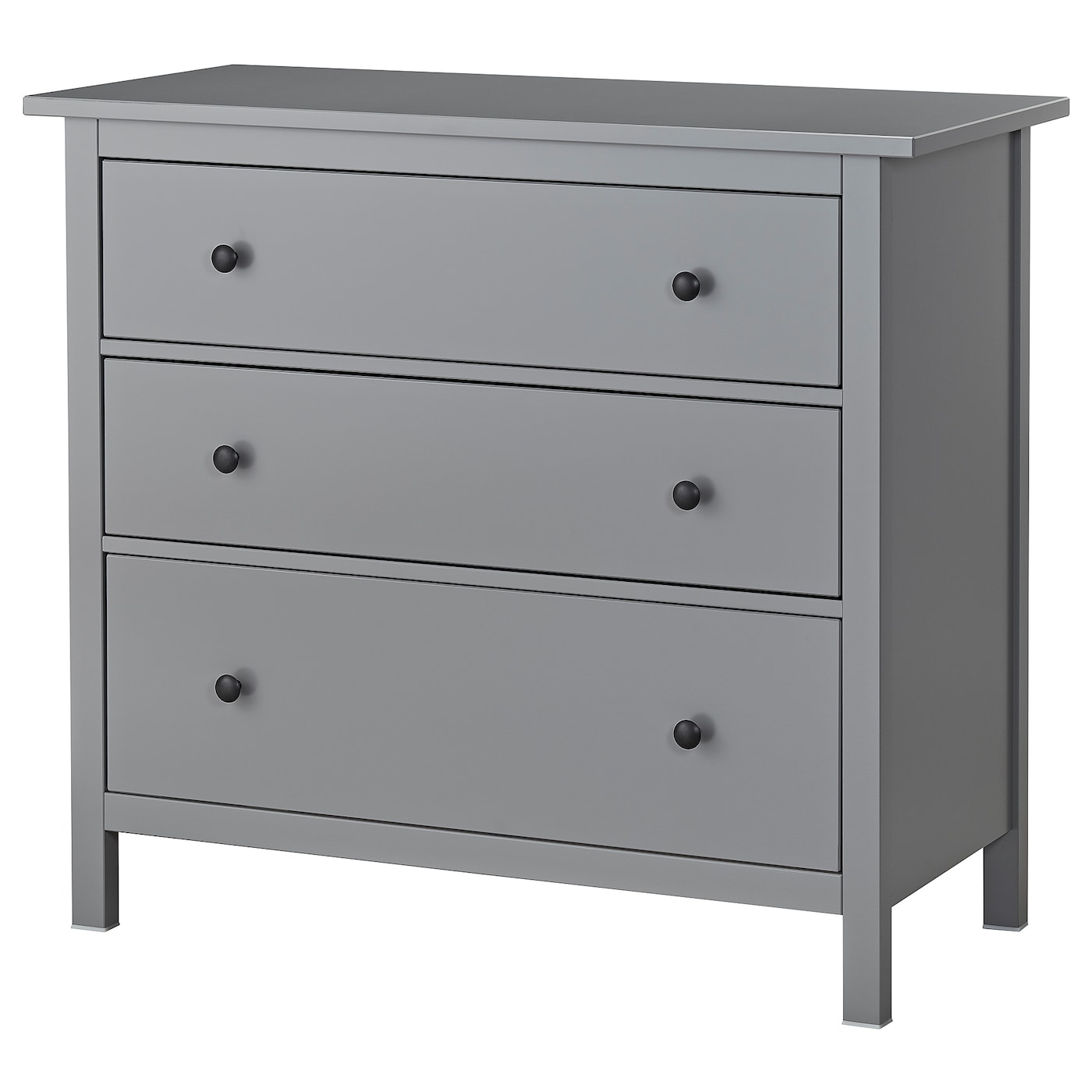 Hemnes chest of 3 drawers grey 108 x 96 cm ikea for Ikea comodino hemnes