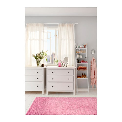 hemnes chest of 3 drawers white stain 108x95 cm ikea. Black Bedroom Furniture Sets. Home Design Ideas