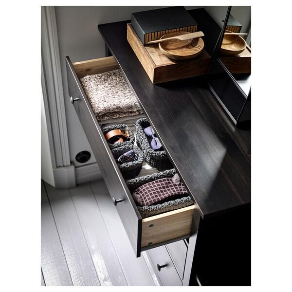 HEMNES chest of 3 drawers black-brown 108 cm 50 cm 96 cm 43 cm