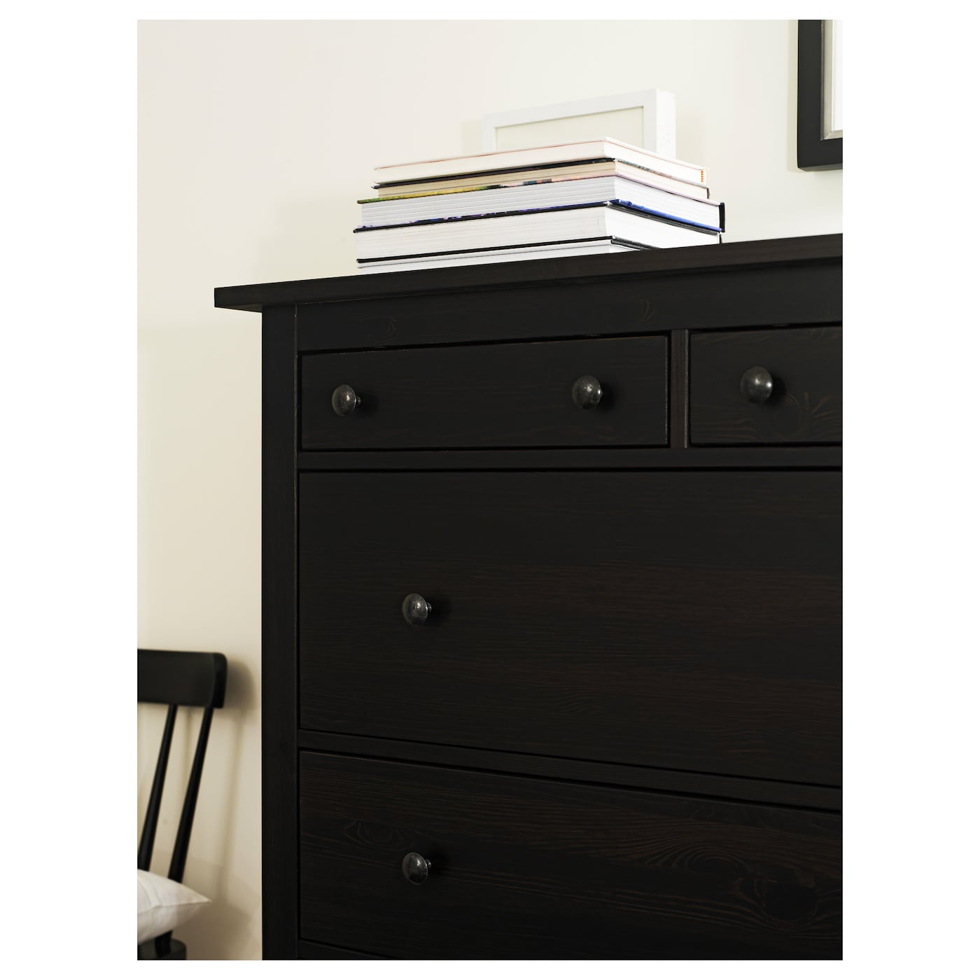 hemnes chest of 6 drawers black brown 108x131 cm ikea. Black Bedroom Furniture Sets. Home Design Ideas