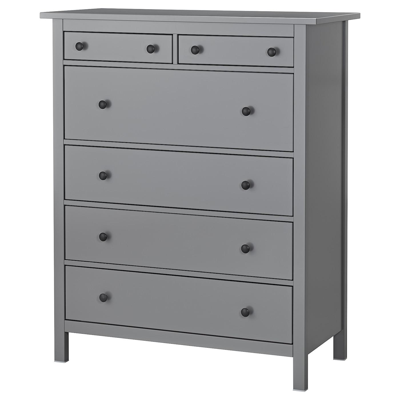 HEMNES Chest of 7 drawers - grey 7x7 cm