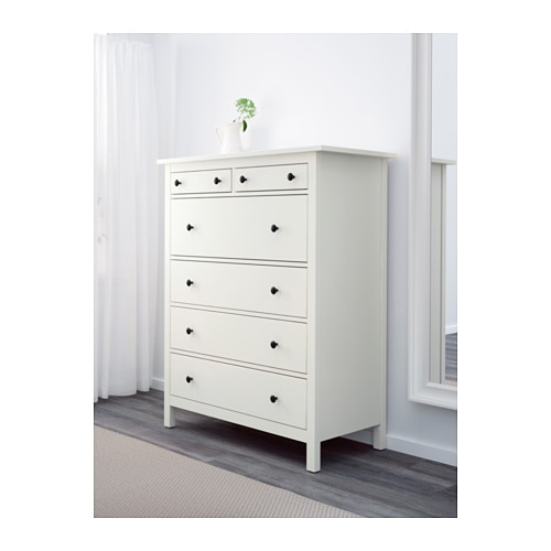 HEMNES Chest of 6 drawers White 108x130 cm - IKEA