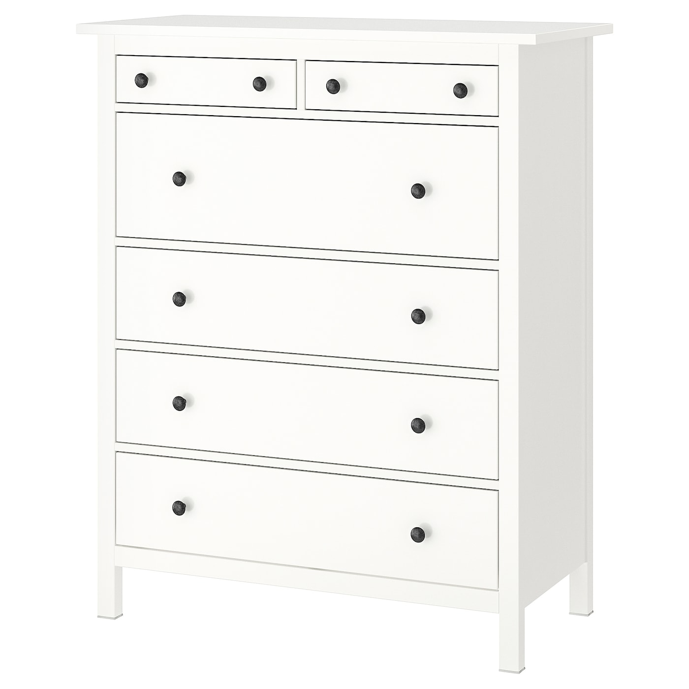 Ikea Hemnes Chest Of 6 Drawers Smooth Running With Pull Out Stop