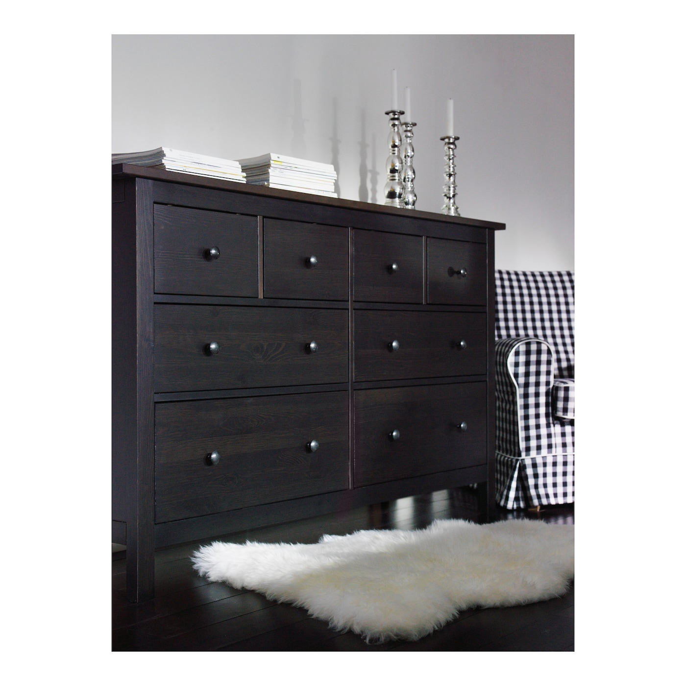 hemnes chest of 8 drawers black brown 160x96 cm ikea. Black Bedroom Furniture Sets. Home Design Ideas