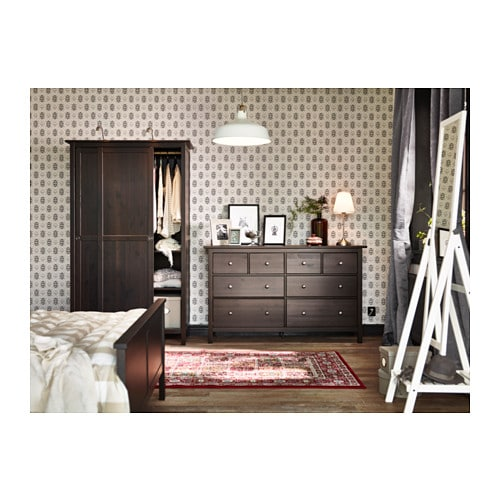 hemnes chest of 8 drawers black brown 160x95 cm ikea. Black Bedroom Furniture Sets. Home Design Ideas