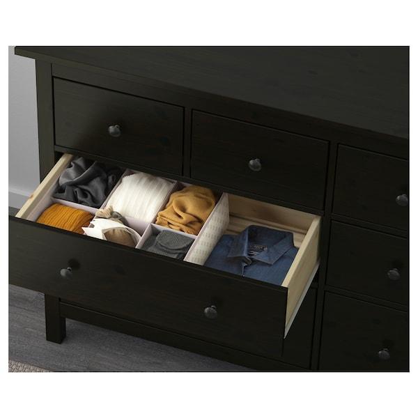 HEMNES Chest of 8 drawers, black-brown, 160x96 cm