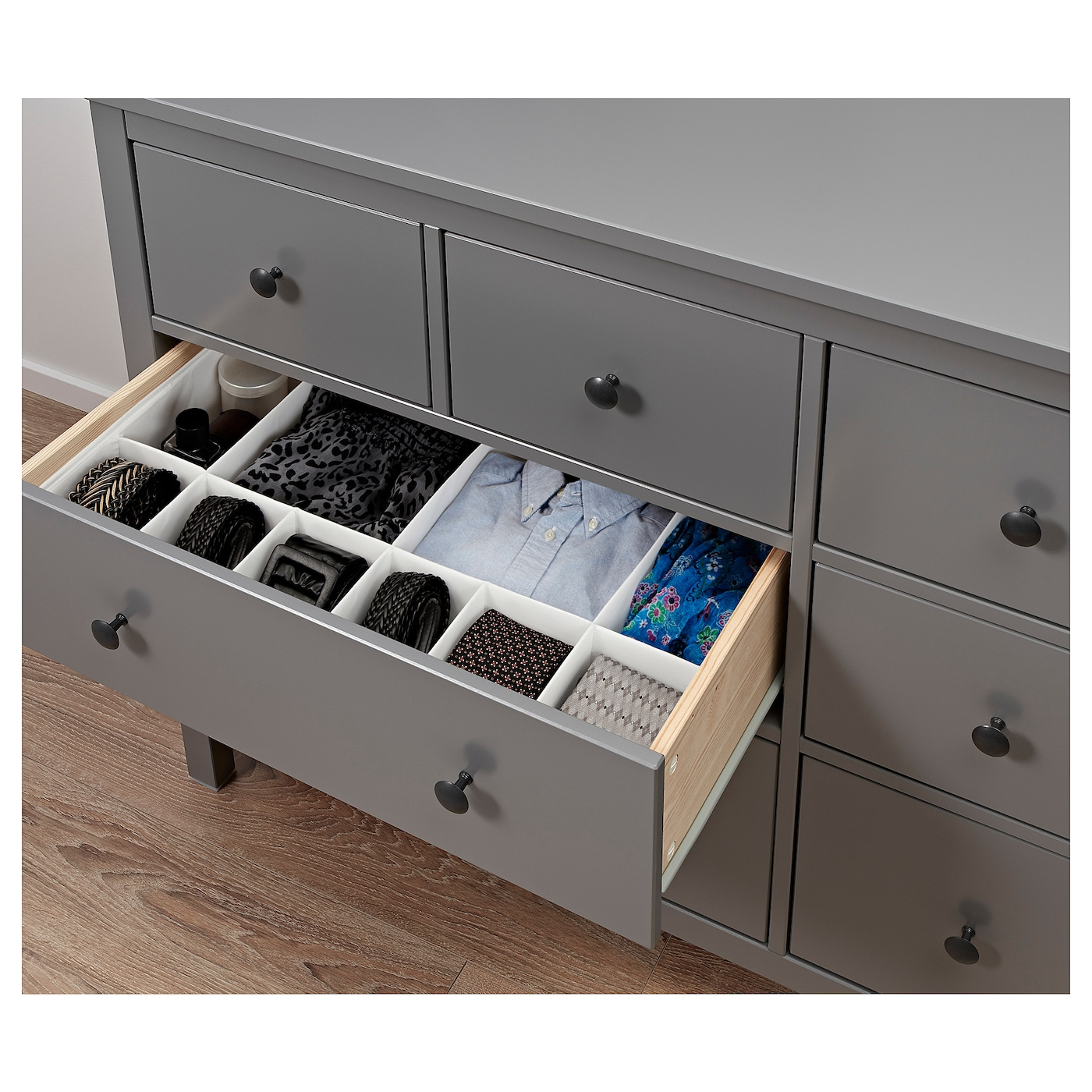 HEMNES Chest of 8 drawers Grey 160×96 cm