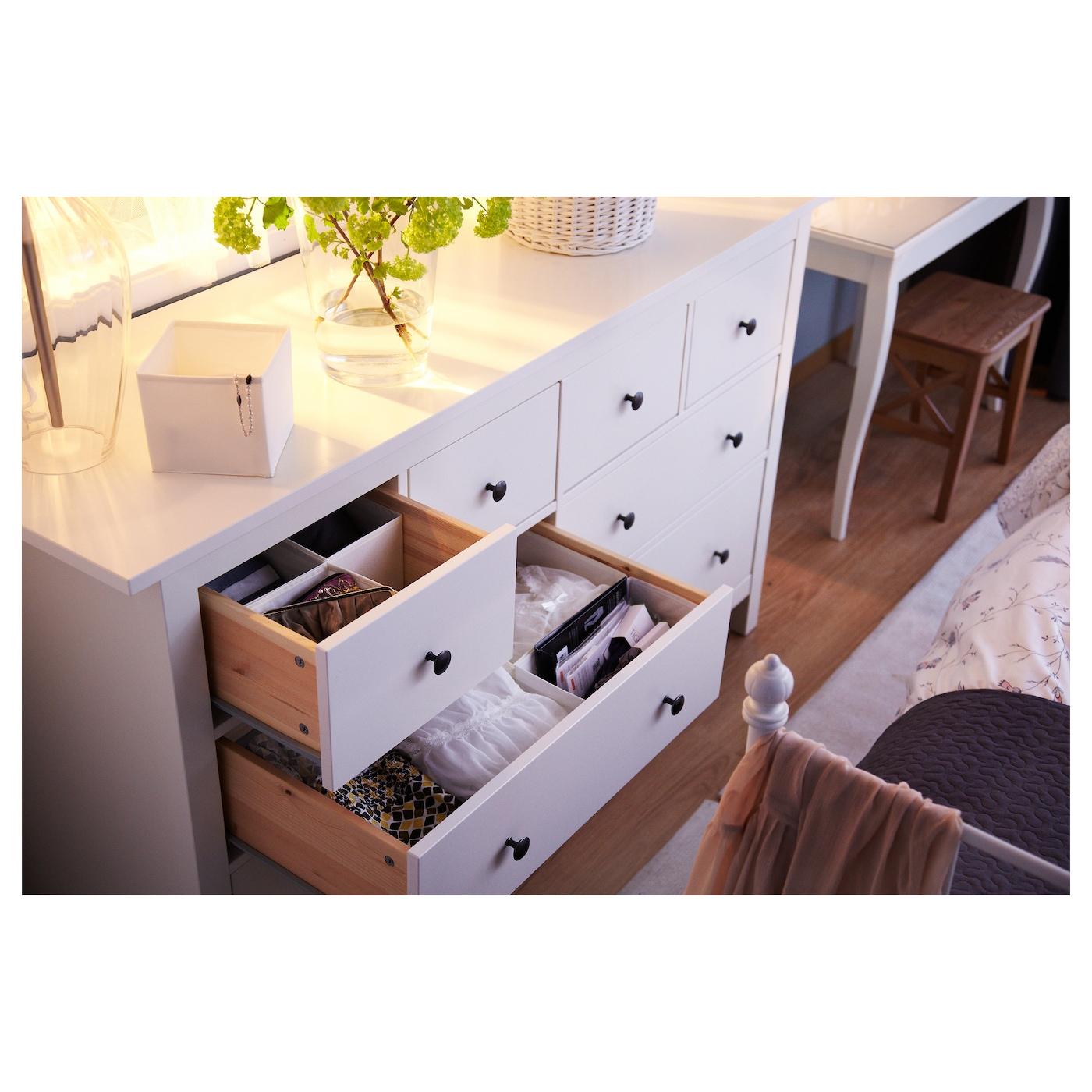Hemnes chest of 8 drawers white 160x95 cm ikea for Ikea storage dresser