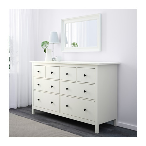 hemnes chest of 8 drawers white 160x95 cm ikea. Black Bedroom Furniture Sets. Home Design Ideas